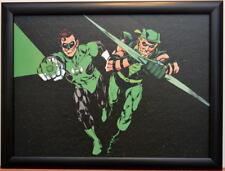 GREEN LANTERN & GREEN ARROW Textured PRINT Neal Adams art Professionally Framed