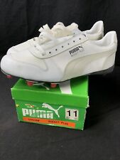 Vintage White Puma Rocket Plus Shoes Deadstock Cleats Size 11 Football