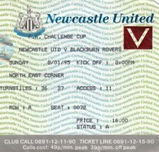 Ticket - Newcastle United v Blackburn Rovers 08.01.95 FA Cup
