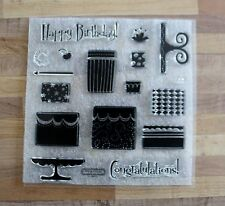 Close to my Heart My Acrylix D1618 Build a Cake NEW Acrylic Stamp Set Occasions