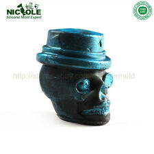 Nicole Handmade Skull Head Silicone Soap Molds Halloween Silicone Candle Molds