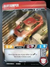 Cliffjumper Character Card Super Rare Exclusive Transformers TCG SDCC Gencon