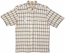 NWT SOUTH POLE White Cotton Checked Button Shirt Mens Size Medium (M) S/S