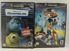 Monsters, Inc.: Scream Arena (Nintendo GameCube, 2002) Complete + Whirl Tour