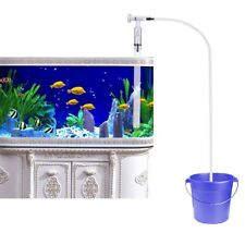 Water Vacum Cleaner Aquarium Manual Siphon Gravel Suction Pipe Pump Fish Tank