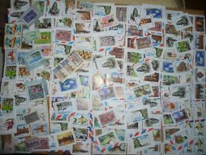 40 grams mixtures Cambodia stamps on single paper kiloware