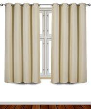 "Curtains Blackout Room Darkening Grommet Window Panel Drapes 2 Panel Set 52x63"""