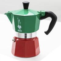 Moka Express 3 TRICOLOR 3 Cup stovetop Espresso maker Italian coffee maker