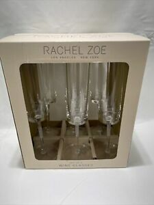 Brand New Sealed Box Rachel Zoe Set of 6 Acrylic Wine Glasses Free Shipping