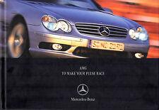 Mercedes-Benz AMG 2001-02 UK Market brochure C32 CLK55 SLK32 E55 S55 CL55 SL55