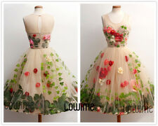 New Colorful Short Poofy Prom Dresses Floral Homecoming Dress Formal Party Gowns