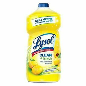 Lysol Power and Fresh All Purpose Cleaner, Lemon Sunflower, 40 oz (Pack of 3)