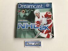 Notice - NHL 2K - Sega Dreamcast - PAL EUR