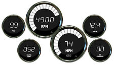 METRIC (KPH) INTELLITRONIX DIGITAL GAUGE SET with Chrome Bezels in WHITE LEDs