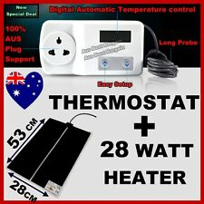 DIGITAL THERMOSTAT + Heat Mat 53x28cm 28 WATT Reptile Hermit Crab Snake Lizard