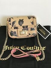 NWT JUICY COUTURE Mini Wild Thing Leather Crossbody Bag Purse leapord Gold Chain