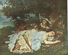 2 Girls on  Banks of Seine Gustave Courbet   French Art Print 1960  Free Shippin