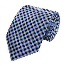 Cravate de Fabio Farini à carreaux en bleu noir gris