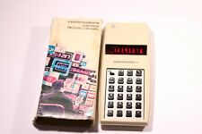 VINTAGE COMMODORE SOLID STATE 7923 CALCULATOR RED LED 1970' S MADE IN HONG KONG