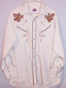 Vintage -Miller- Maple Leaf Embroidered Western/Rockabilly Shirt - Denver, CO