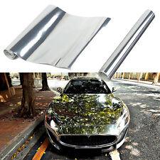 "6x60""Silver Chrome Mirror Vinyl Wrap Film AUTO Car Stickers Decal Sheet Bubble"