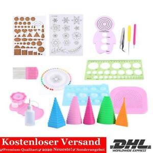 19 stk. Quilling Papier Kit Zubehör Papierstreifen Schlitzwerkzeug Set PP 08