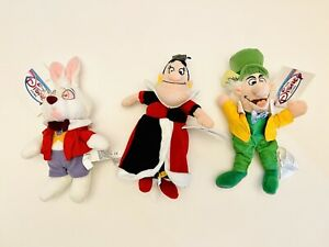 VTG Disney Alice In Wonderland Queen Of Hearts Mad Hatter Rabbit Mini Bean Bag