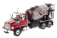 WESTERN STAR RED 4700 SF CONCRETE MIXER W/ GREY DRUM 1/50 DIECAST MASTERS 71033