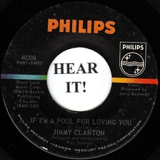 Jimmy Clanton TEEN 45 (Phillips 40208) If I'm a Fool For loving You/A Million