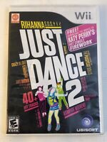 Just Dance 2 Two Nintendo Wii 2010 Complete Cib Ubisoft Disc+case+manual Music