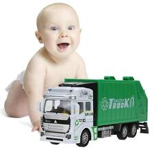 Christmas 1:32 Pull Back Power Metal Alloy Car Garbage Truck Toy for Kids