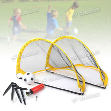 KIDS MINI FOOTBALL GOAL POSTS TWIN SET OF CHILDRENS PRACTICE SOCCER GOALS UK