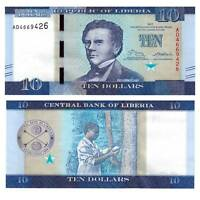 Pick New Liberia 10 Dollars 2017 Unc. / 386691vvv