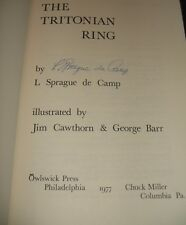 Signed 1st thus edition of THE TRITONIAN RING by L. Sprague De Camp 1977