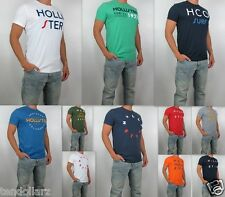 NWT HOLLISTER Men Embellished Applique Logo Graphic Tee T Shirt By Abercrombie