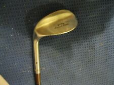 Wilson 1938 Left-Handed Sand Iron R-20 Punch Dot Face Wedge Brown Steel Shaft