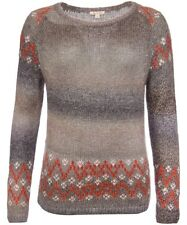 Barbour UK NEW Women's Sweater Icefield Space dye Fairisle Mohair US4