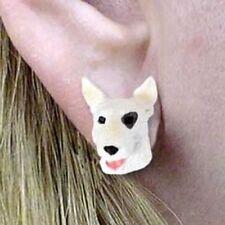 Bull Terrier Tiny One Dog Head Post Earrings Jewelry