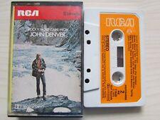 JOHN DENVER ROCKY MOUNTAIN HIGH CASSETTE ORIGINAL 1973 RCA ORANGE LABEL, TESTED.