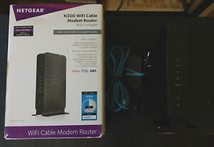 Netgear N300 WiFi Cable Modem Router - One Working Ethernet Port