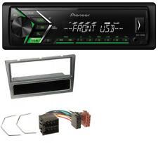 PIONEER USB mp3 1din AUX AUTORADIO PER OPEL CORSA C ISO 2000-2004 ALLUMINIO