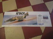 8/1989 PUB CASA C-101 BASIC TRAINER ATTACK AIRCRAFT AVION FLUGZEUG ORIGINAL AD