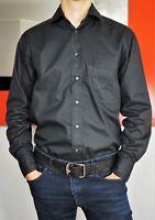 STENSTRÖMS Stenstroms Men's Long Sleeve Button Front Black Shirt size 38 (M)