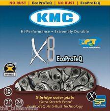 KMC X8-EPT Bike Chain Eco Proteq 5 / 6 / 7 / 8 Speed Rust Proof 650 hr salt test