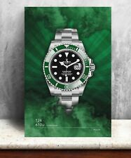 Rolex Submariner 126610LV watch print. Bold graphic art on canvas