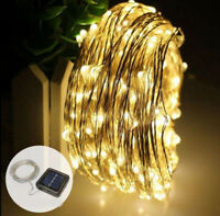 2M 30M Long LED Solar String Lights Waterproof Copper Wire Fairy Outdoor Garden
