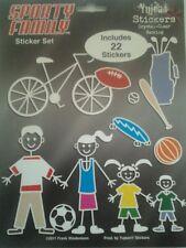 My Stick Family Sporty Sport Bike Football Skateboard Golf Set 22 Stickers Decal