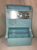 Vtg RARE 1960-70's Windsor HI-FI Solid State Blue Plastic Transistor Radio WORKS