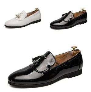 Mens Pumps Driving Moccasin Tassel Slip on Flats Leisure Business Loafers Shoes