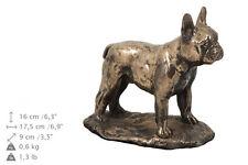 bulldog francés CONMEMORATIVO Urna para de perro cenizas, con Estatua cremación